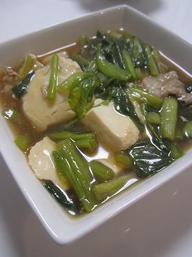 20150318 ほうれん草と豆腐のオイスター煮 (1)