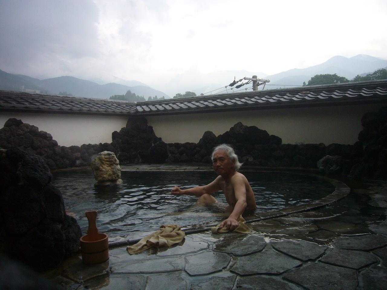 渋温泉入浴シーンH27.6.17