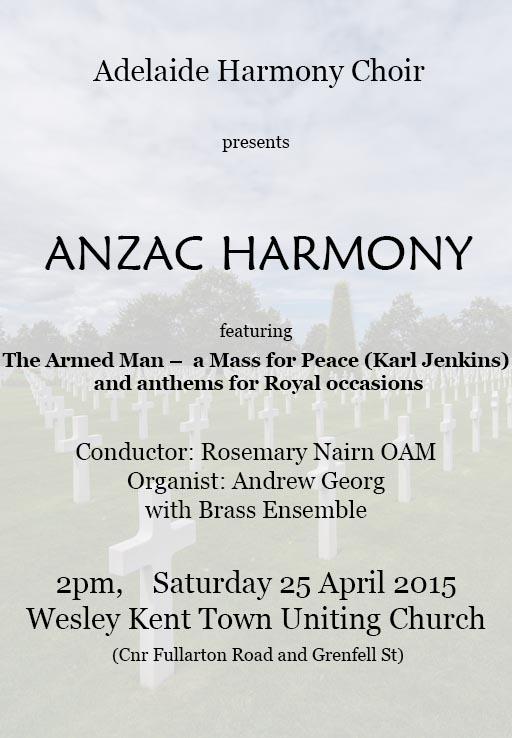 ANZAC Harmony 2015