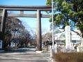 H27.2.20愛知県護国神社鳥居@IMG_2329