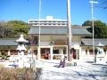 H27.2.20愛知県護国神社拝殿@IMG_2325