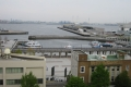 県庁屋上から見た象の鼻パークと大桟橋