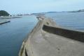 開国橋付近の突堤