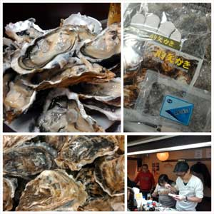 牡蠣の殻むき