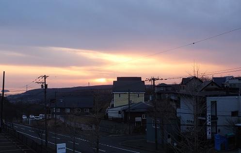 21日の夕陽