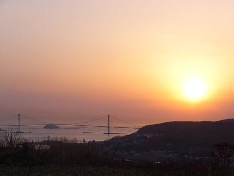 22日の夕陽2