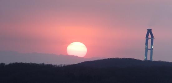 22日の夕陽3