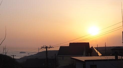 22日の夕陽1