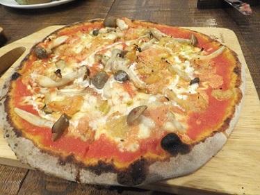 5明太子のピザ
