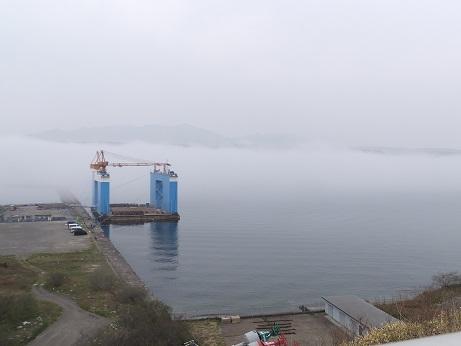 海霧の室蘭港1