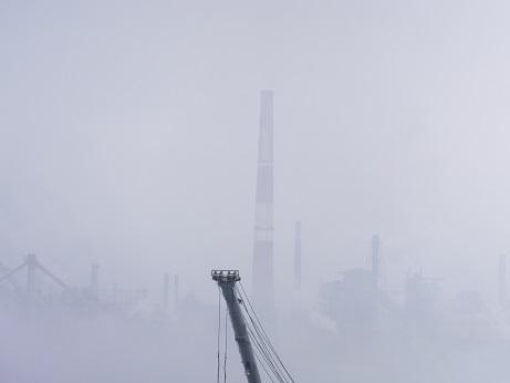 海霧の室蘭港3