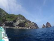 イルカが根付いている鵜渡根島