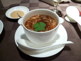 蟹と野菜のとろみスープ