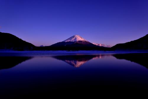 精進湖夕景