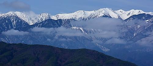 DSC_3296 雲の棚引く西駒ケ岳