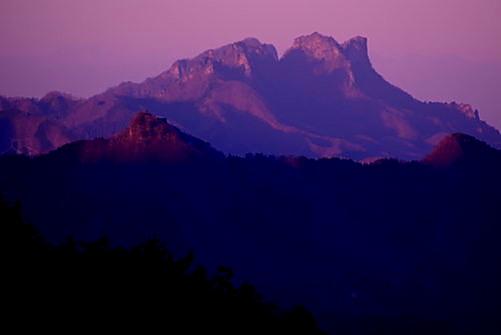 妙義山夕景