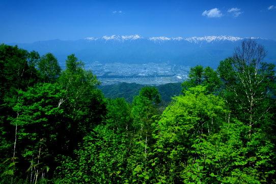 戸倉山頂から望む西駒ヶ岳
