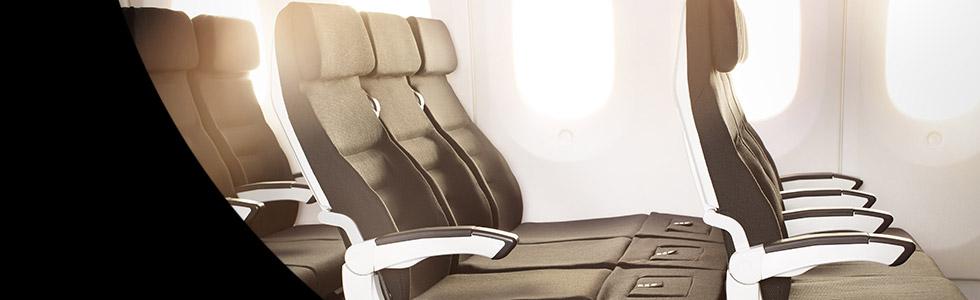 ニュージーランド航空、就航75周年を記念して、世界初の水平なソファ状態になるシート、Skycouch™(スカイカウチ)を特別割引でご利用いただけます。