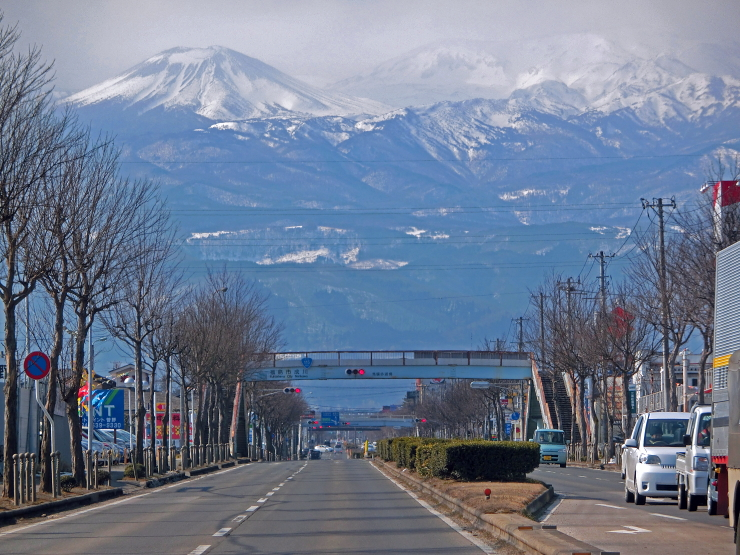 The road to Mt.Azuma