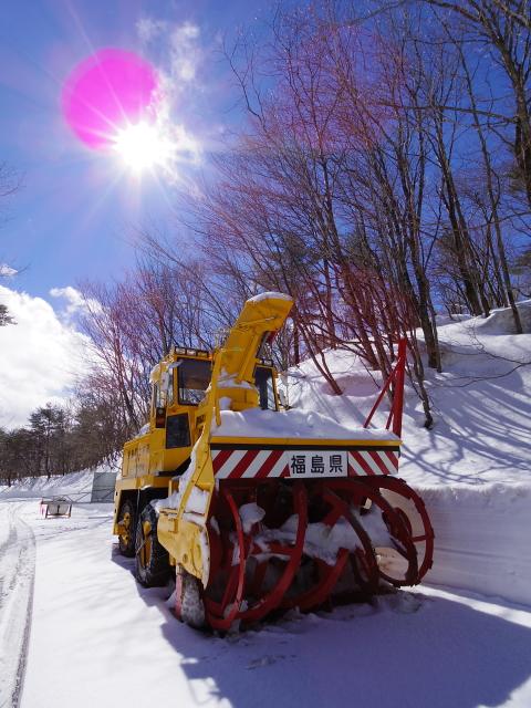 福島県ロータリー除雪車