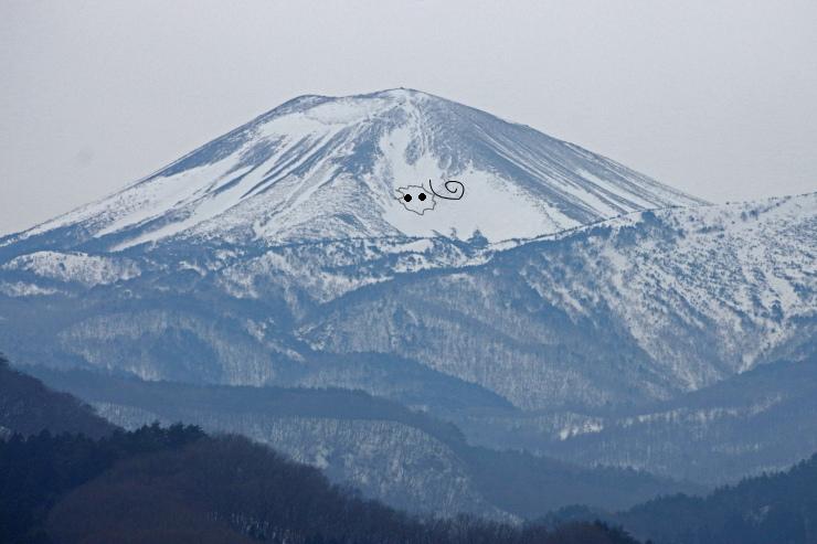 吾妻小富士の雪ひつじ