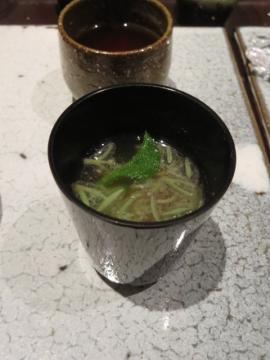 じゅんさいの味噌汁