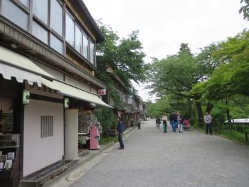 見城亭から続く江戸町(茶屋)通り