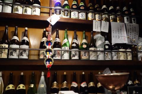 日本酒の棚