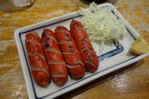 赤ウインナー焼き