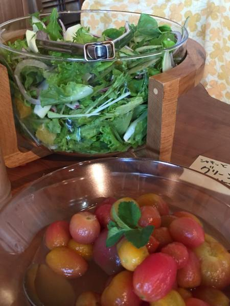 グリーンサラダ&トマトのはちみつマリネ