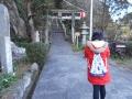 161231淡島神社へ上る