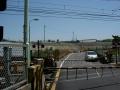 150505工事中の小金川踏切付近