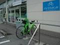 150620近江八幡白王町ファミマの以前には無かったバイクラック