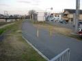 150124国豊橋北詰から自転車道へ