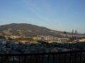 150221国道308号から生駒山を望む
