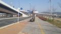 141231勧進橋西詰の自転車レーン