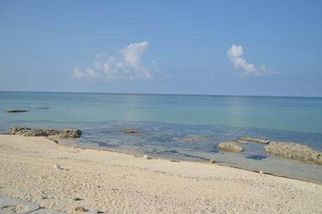 1キャンプ場前のビーチ
