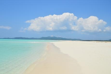 5白い砂浜・・・
