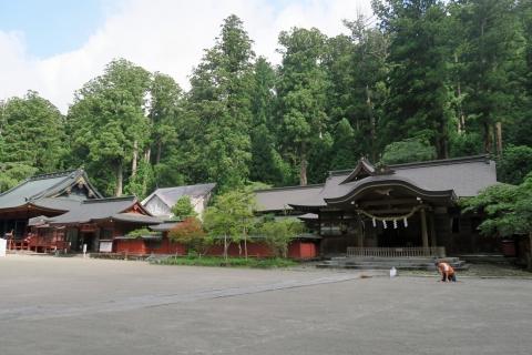 08二荒山神社修復中の本殿