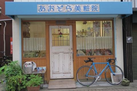 08谷中銀座床屋の自転車