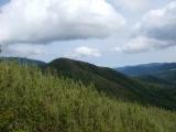矢倉沢峠から火打石岳を望む