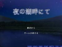 夜の湖畔にて