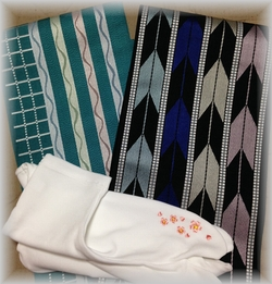 半幅帯と刺繍足袋