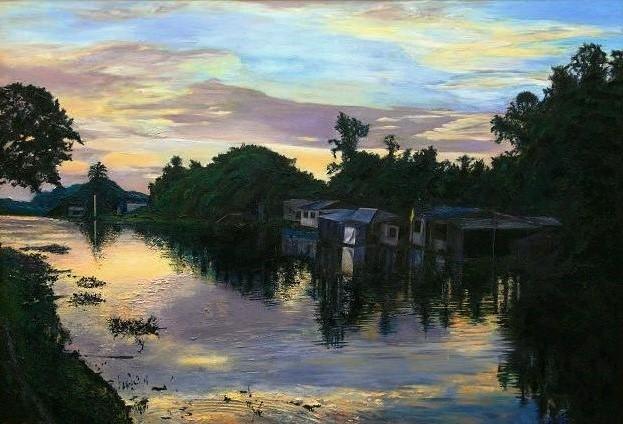 運河の夜明け