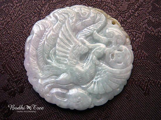 本翡翠彫刻‐鳳凰