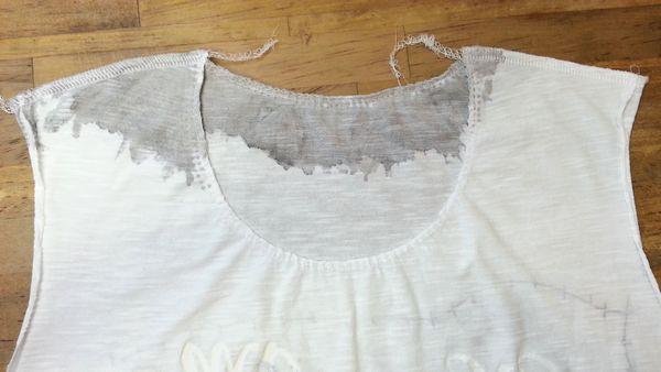 リメイクTシャツ長袖白GRAY⑥