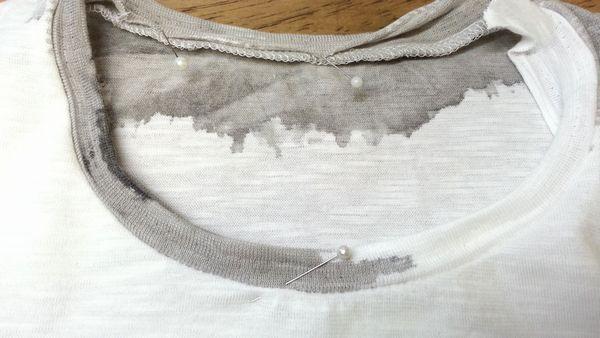 リメイクTシャツ長袖白GRAY⑧