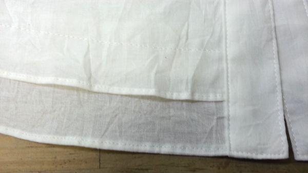 リメイク白ブラウス袖口④
