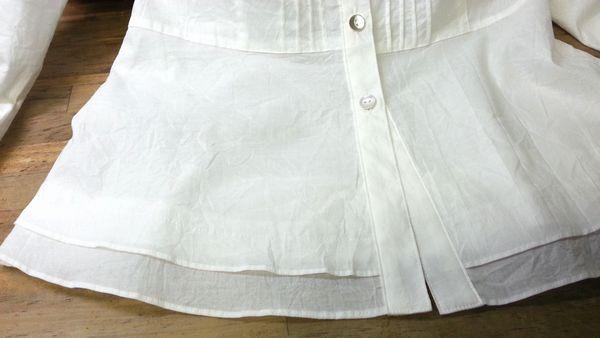 リメイク白ブラウス袖口①