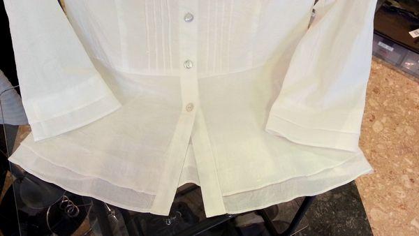 リメイク白ブラウス袖口⑪
